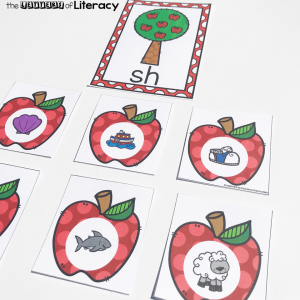 This free printable apple-themed digraph sort is perfect for Kindergarten and 1st grade fall literacy centers! Work on beginning digraphs and have fun!