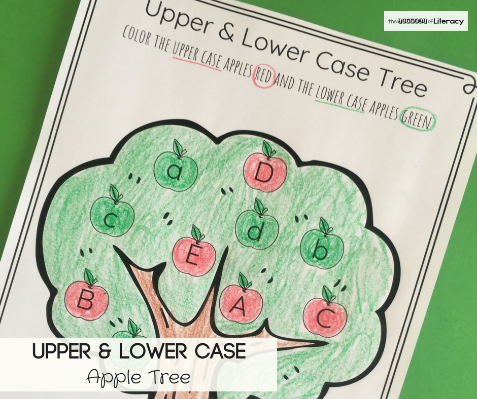 Work on identifying upper and lowercase letters this fall with this free apple tree upper and lowercase letter sort! Perfect for Pre-K and Kindergarten.