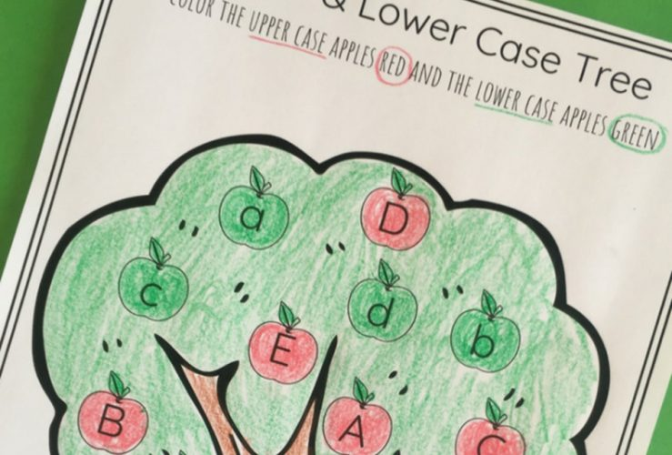 Apple Tree Upper and Lowercase Letter Sort