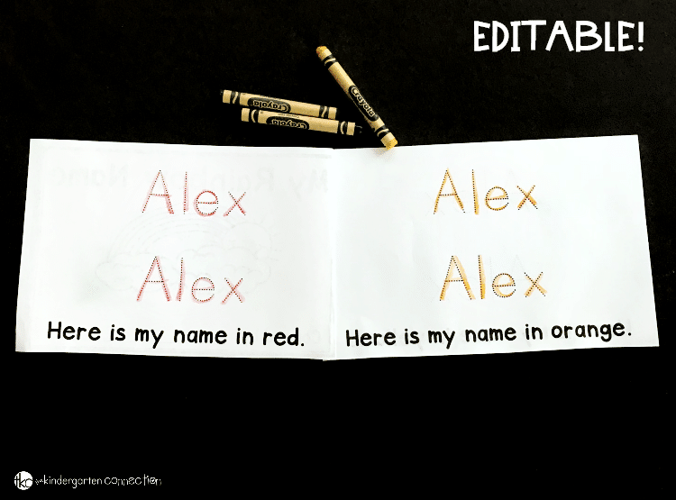 Editable Name Book for Kindergarten