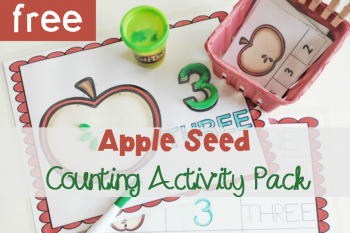 Apple Seed Counting Activity Pack