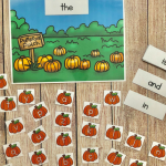Pumpkin Patch Sight Word CenterSpelling