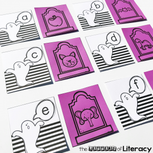 Halloween Beginning Sounds Activity, FREE Spooky Sounds Letter Match Literacy Center for Kindergarten!