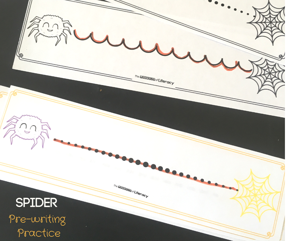 spider pre-writing practice