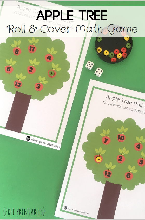 Apple Tree Roll and Cover Math Game