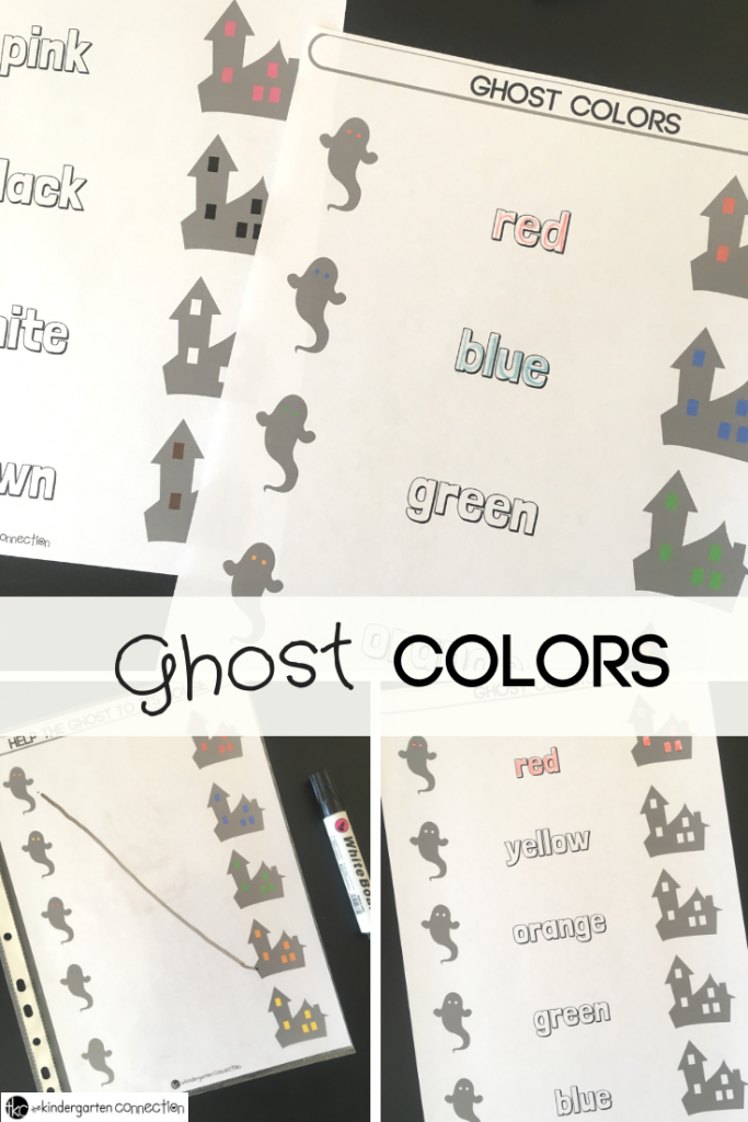 Learning Color Words Halloween Printable For Literacy Centers
