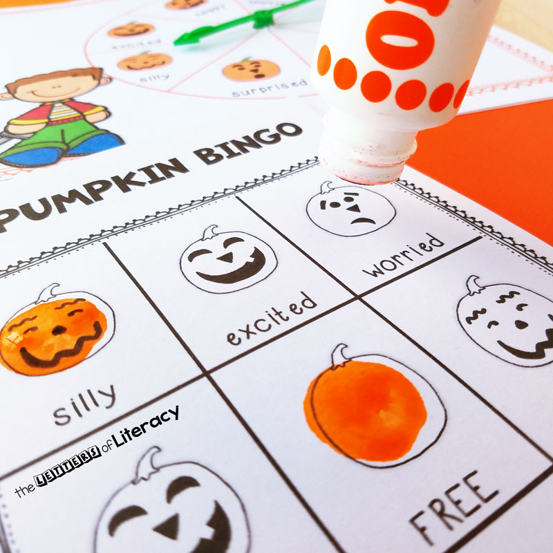 This free printable Halloweeen Bingo activity is so fun for identifying emotions!