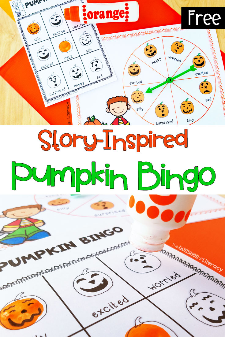 pumpkin bingo with emotion words