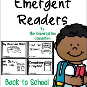 Back to School Emergent Readers cover