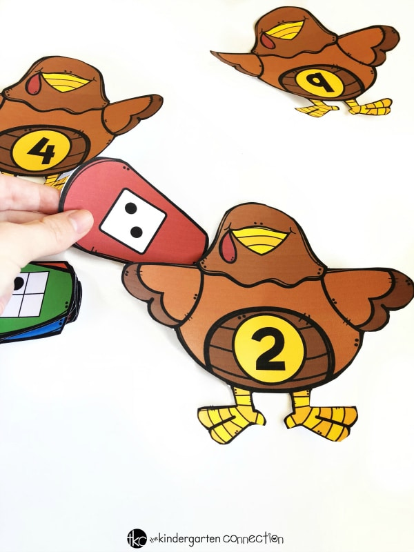 Build a Turkey Number Sense Activity Sort, free printable for kindergarten