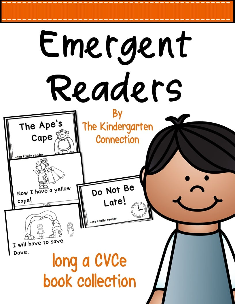 graphic about Printable Word Family Books referred to as Emergent Website visitors - Extensive a CVCe Phrase Spouse and children Textbooks