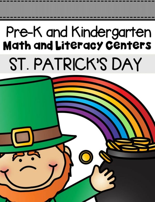 This pack is filled with engaging math and literacy centers for Pre-K and Kindergarten students with a St. Patrick's Day theme, (this includes leprechauns, shamrocks, gold, rainbows, etc.
