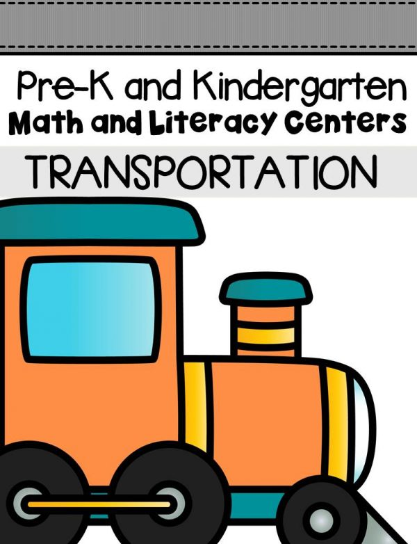 This pack is filled with engaging math and literacy centers for Pre-K and Kindergarten students with a transportation theme.