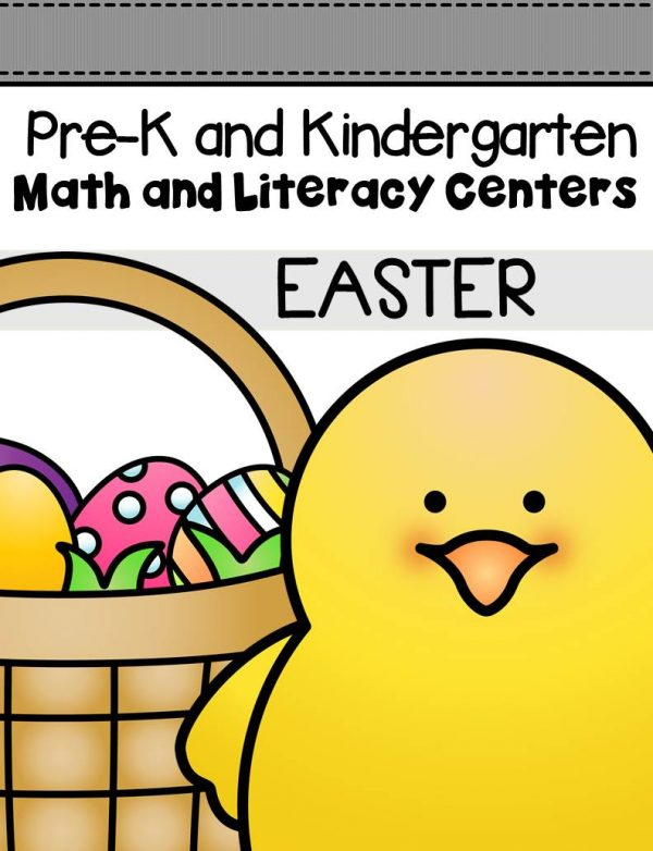 This pack is filled with engaging math and literacy centers for Pre-K and Kindergarten students with an Easter theme