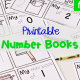 FREE Printable Preschool Number Mini Books for numbers 0-5