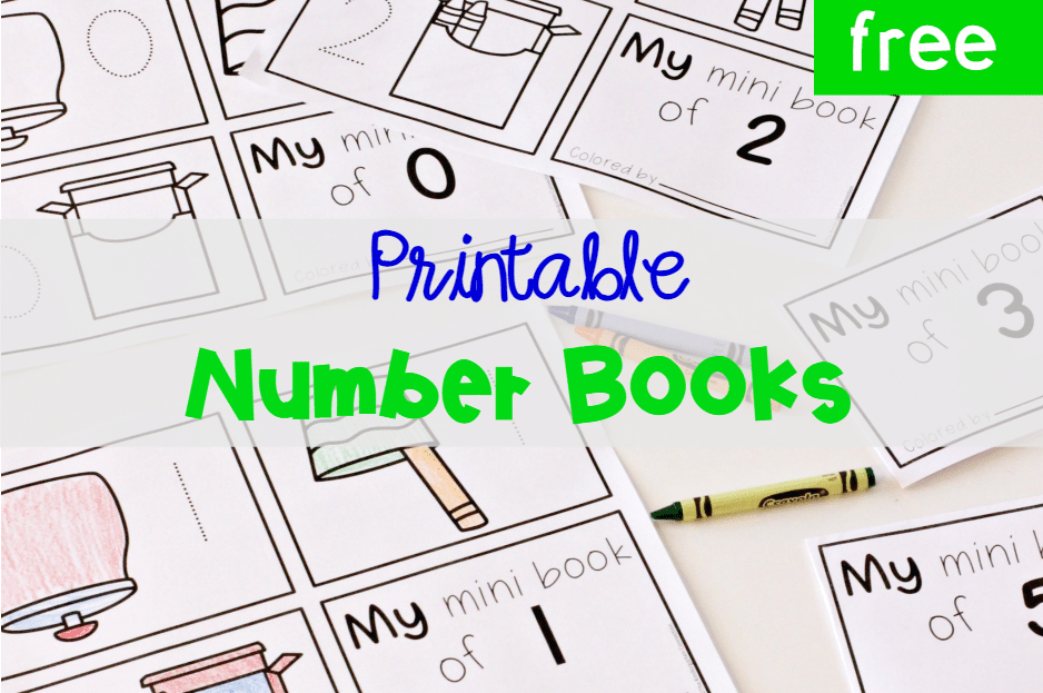 photo relating to Printable Mini Booklets referred to as Totally free Printable Preschool Range Mini Guides - The