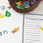FREE Thanksgiving Printable CVC Activity for Kindergarten