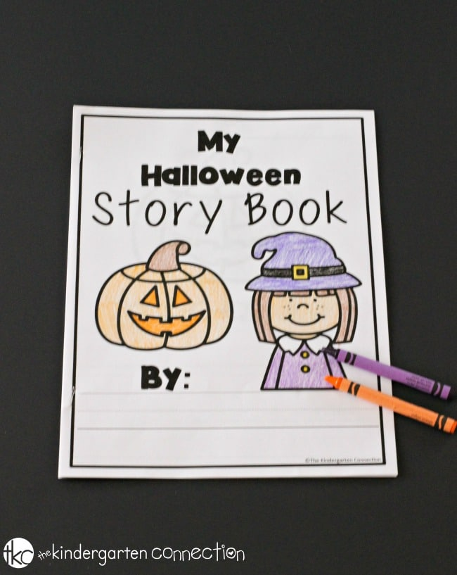 Halloween Writing Centers for Kindergarte- My Story Book