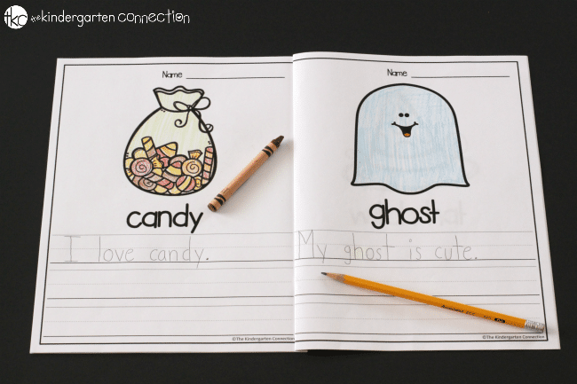 Halloween Writing Centers for Kindergarten - My BIG Story book