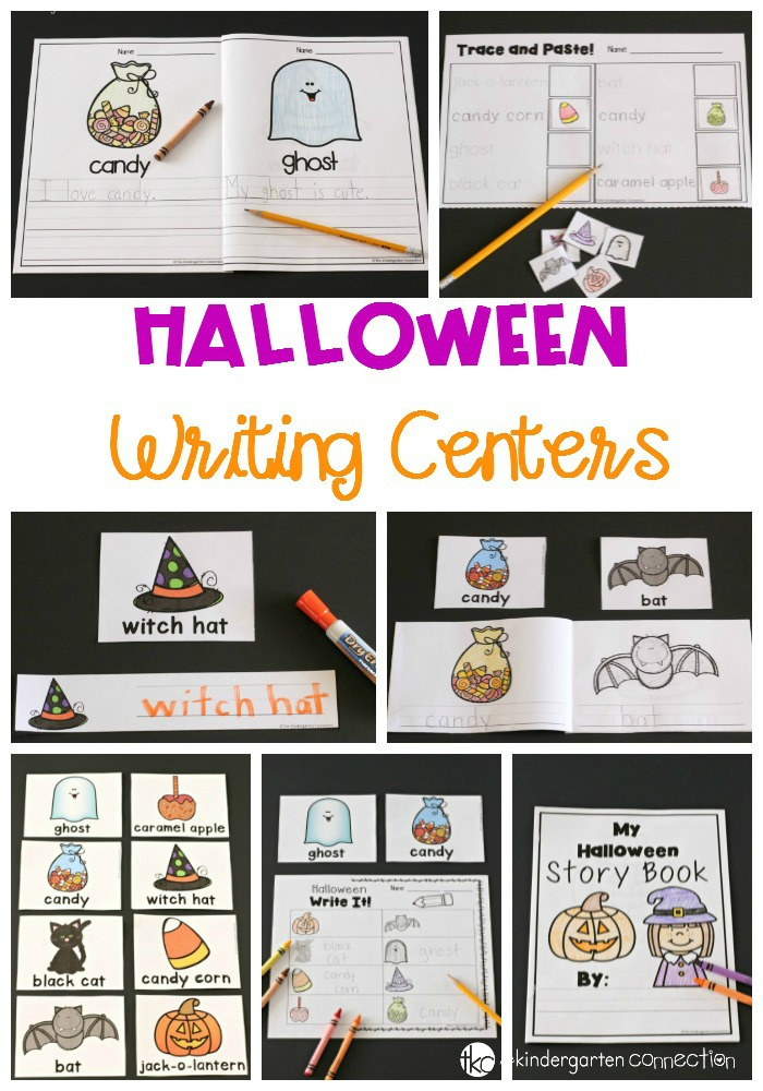 Halloween Writing Centers for Kindergarten