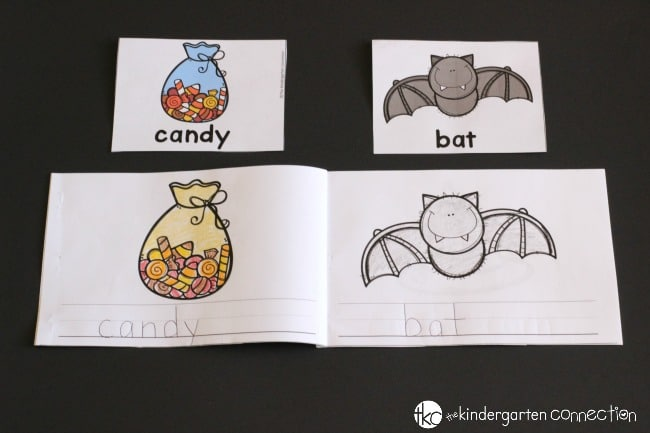 "Halloween Writing Centers for Kindergarten- Mini ""Write it!"" book"