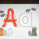 Free Halloween Alphabet Play Dough Mats