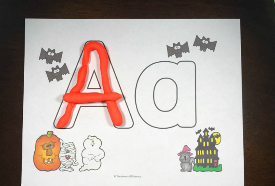 Halloween Alphabet Play Dough Mats