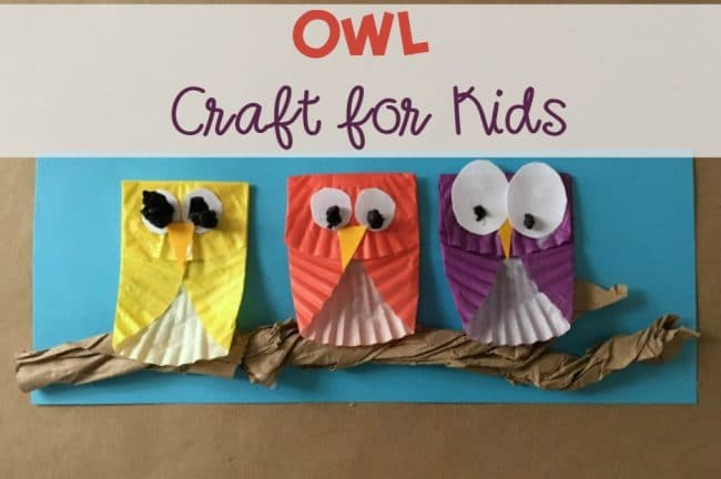 Owl Craft for Kids, easy DIY, for fall