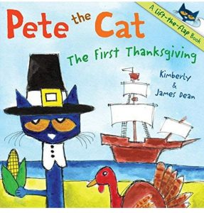 Pete the Cat The First Thanksgiving touches on the facts and events of the first Thanksgiving.