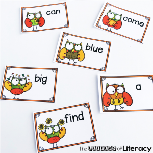 This wise owl editable sight word center for fall is perfect for Kindergarten and 1st Grade literacy centers!