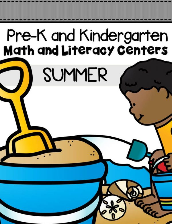This pack is filled with engaging math and literacy centers for Pre-K and Kindergarten students with a summer theme