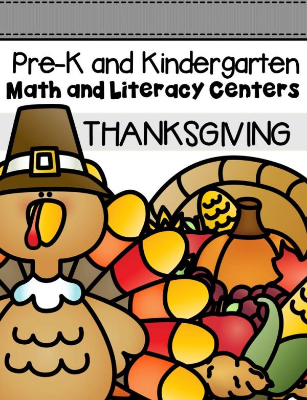 This pack is filled with engaging math and literacy centers for Pre-K and Kindergarten students with a Thanksgiving theme!