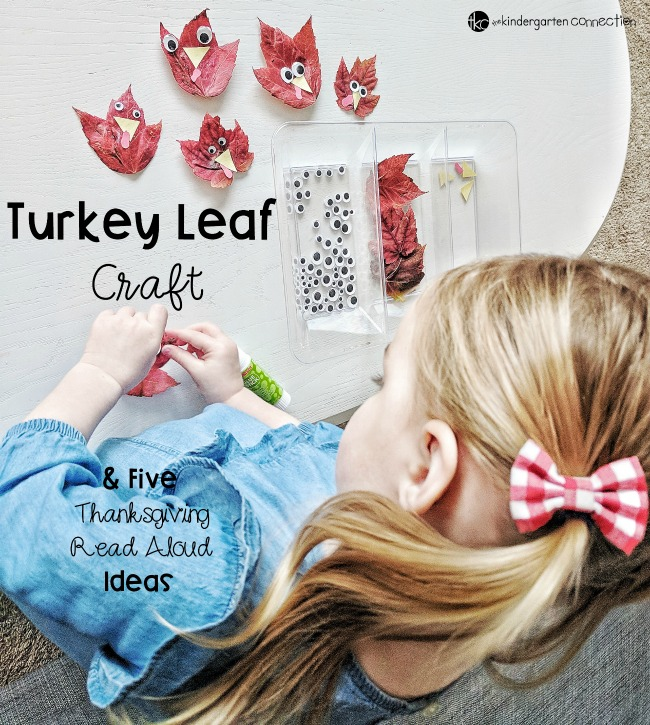 Turkey Craft for Kids and Top 5 Favorite Thanksgiving Read Alouds for Pre-K and Kindergarten!