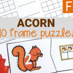Acorn 10 Frame Puzzles and Recording Sheet