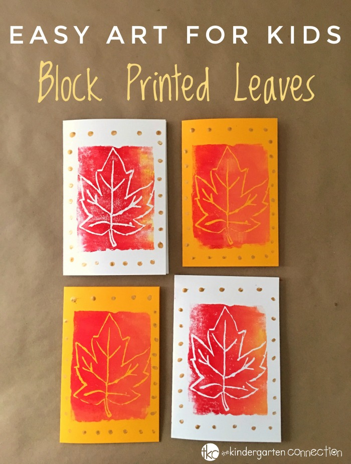 Your kids will love creating colorful works of art with our Easy Block Printed Leaves Fall Craft for Kids! It teaches about color mixing while also strengthening fine-motor skills!