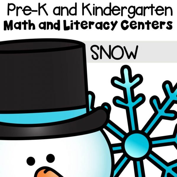 This pack is filled with engaging math and literacy centers for Pre-K and Kindergarten students with a snow theme.