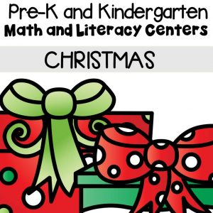 This pack is filled with engaging math and literacy centers for Pre-K and Kindergarten students with a Christmas theme.