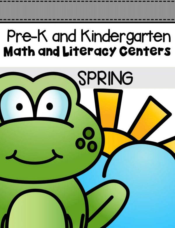 This pack is filled with engaging math and literacy centers for Pre-K and Kindergarten students with a spring theme .
