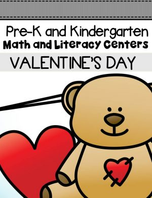 This pack is filled with engaging math and literacy centers for Pre-K and Kindergarten students with a Valentine's Day theme.