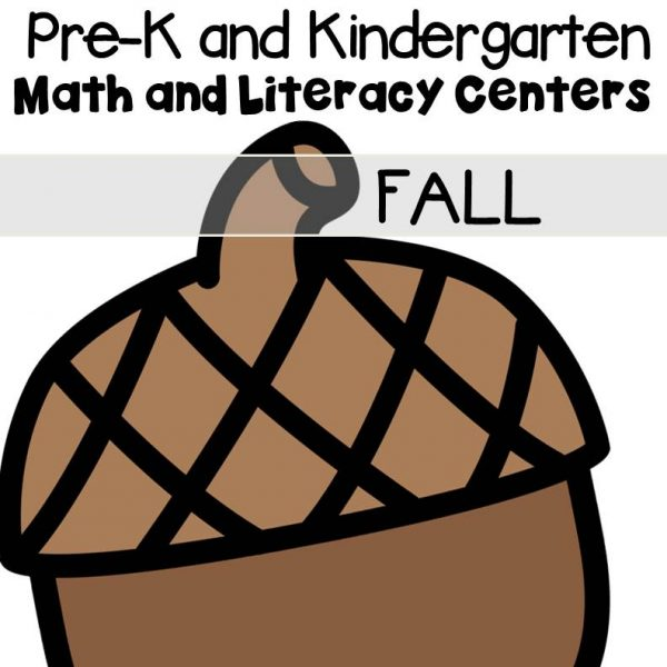 Fall Centers and Activities for Pre-K/Kindergarten