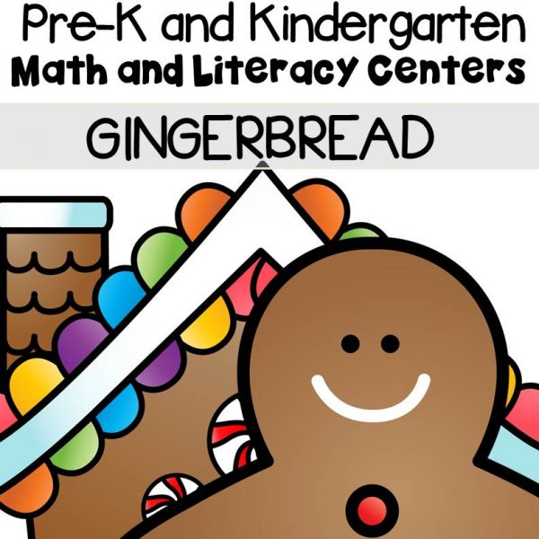 his pack is filled with engaging math and literacy centers for Pre-K and Kindergarten students with a gingerbread theme.