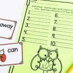 Wise Owl Editable Sight Word Center