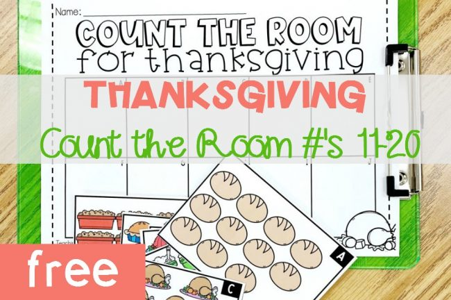 Thanksgiving Count the Room, #'s 11-20