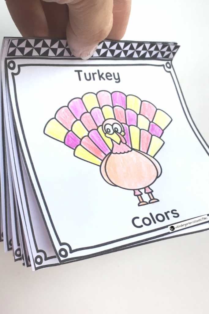 FREE Printable Turkey Color Words Emergent Reader Book for Pre-K and Kindergarten this Fall!