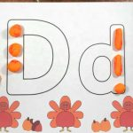 Turkey Alphabet Play Dough Mats