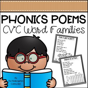 CVC word families cover new