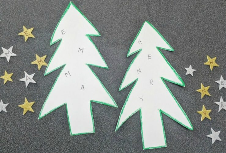 Christmas Tree Name Building Activity
