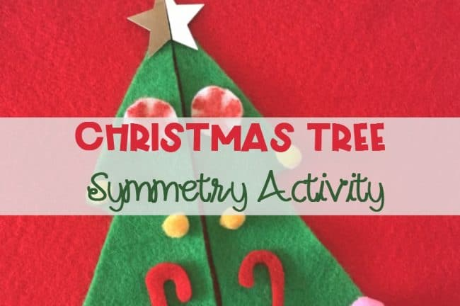Christmas Tree Symmetry Activity for Kindergarten