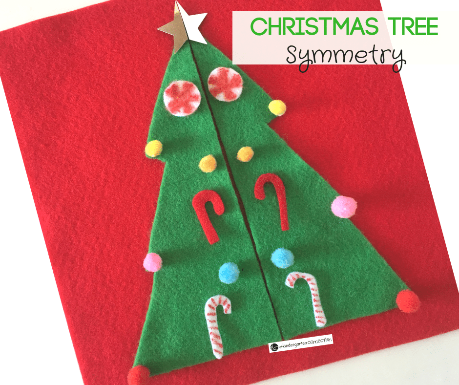 Christmas Tree Symmetry Activity for Kindergarten!