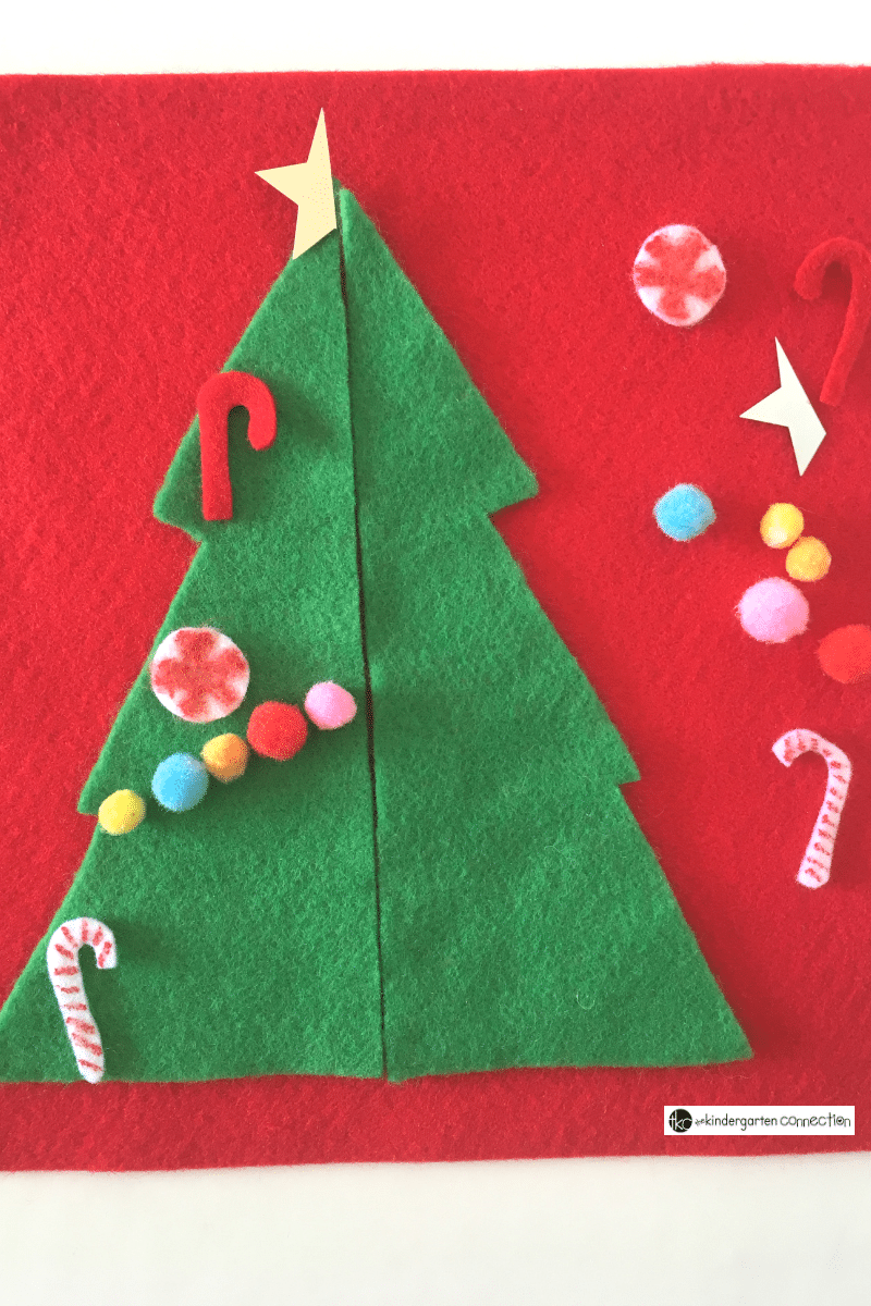 Your kindergarten students will love practicing symmetry in a unique way with this Christmas tree symmetry activity. It is perfect to use in small groups, centers, or even partner work!